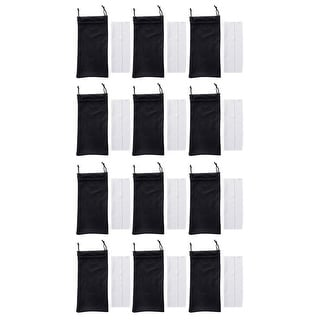 Eyekepper Microfiber Soft Pouch And Cleaning Cloth For Reading Glasses (12 pcs)