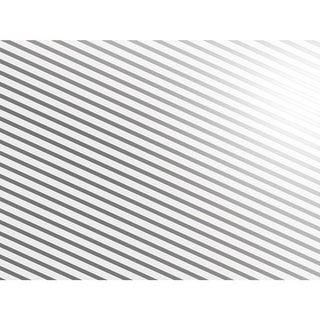 "Metallic Silver and White Stripes 30"" x 50' Gift Wrap Roll"