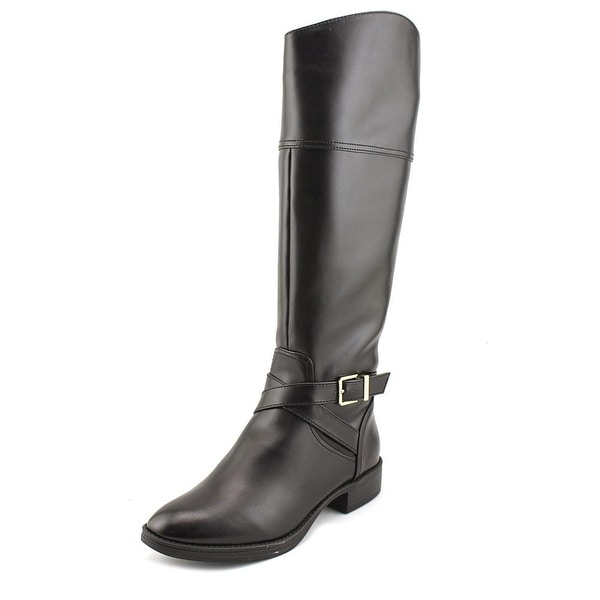 Circus by Sam Edelman Parker Women Round Toe Leather Black Knee High Boot