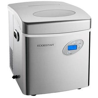 EdgeStar IP250 17 Inch Wide 2.6 Lbs. Capacity Portable Ice Maker with 48 Lbs. Daily Ice Production