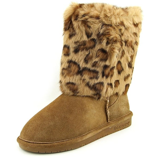 Bearpaw Keely Women Round Toe Suede Brown Winter Boot
