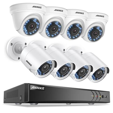 ANNKE 8CH 1080P Indoor Outdoor HD Security Camera System