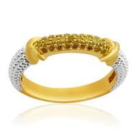 Prism Jewel 0.25Ct Round Yellow Color Diamond Anniversary Ring