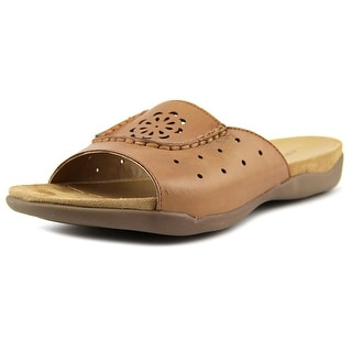 Array Sand Dollar Women W Open Toe Leather Slides Sandal