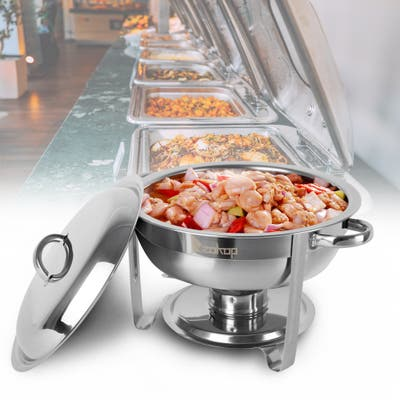 Single Pot One Set Stainless Steel Round Buffet Stove