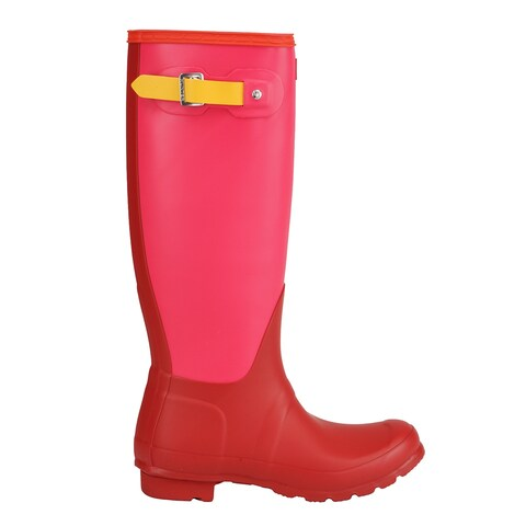 Hunter Women's Original Tall Colour Block Rain Boots - Red