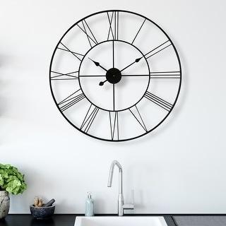 """Link to Walplus Minimalist Slim Iron Wall Clock 30"""" Decoration Decor Wall Art Similar Items in Decorative Accessories"""