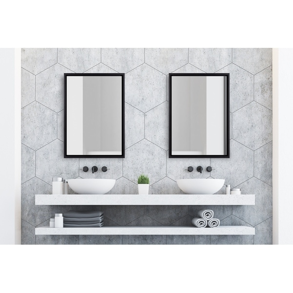 Kate and Laurel Evans Framed Floating Wall Mirror. Opens flyout.