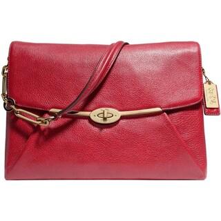 Coach Womens Madison Satchel Handbag Leather Flap - MEDIUM