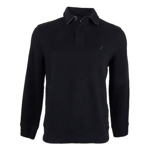 Nautica Men's Classic-Fit French Ribbed Long Sleeve Polo