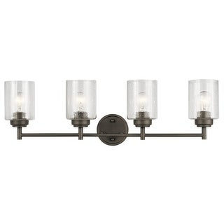 Link to The Gray Barn Saffron 4-light Olde Bronze Bath Vanity Light Similar Items in Bathroom Vanity Lights