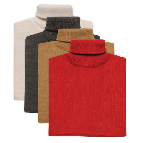 Women's Turtleneck Dickies - 4 Pack White/Black/Beige/Red - One size