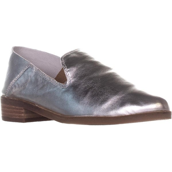 95a2349f0 Shop Lucky Brand Cahill Deconstructed Flat Loafers, Platinum - 7.5 ...