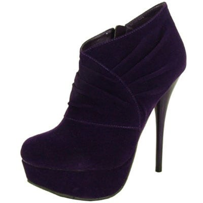 Qupid Women Neutral-257 Pumps - purple velvet