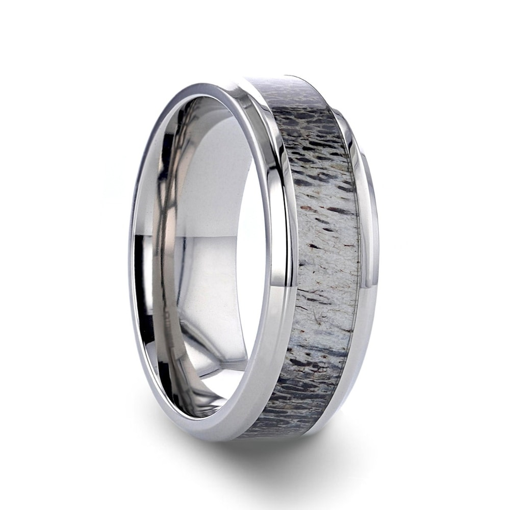 Bridal Wedding Bands Decorative Bands Titanium 8mm Grooved Polished Band Size 9