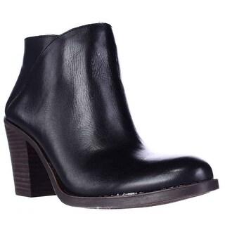 Lucky Brand Eesa Block Heel Pull On Ankle Booties, Black