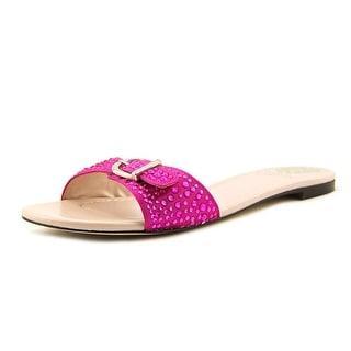 Vince Camuto Darcin Women Open Toe Canvas Slides Sandal