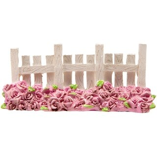 "Fairy Garden Fence W/Rose Bed-2.25""X5"""