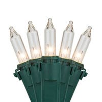 "Wintergreen Lighting 17560 25.5' Long Outdoor Premium 50 Mini Light Holiday Light Strand with 6"" Spacing and Green Wire"