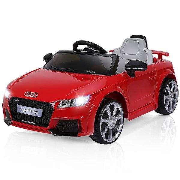 Costway Red 12V Audi TT RS Electric Kids Ride On Car Licensed Remote