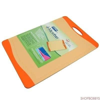 Microban Antimicrobial Cutting Board, Orange, 17.5X12 Inches