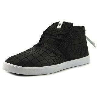 Diamond Supply Co Jasper Men  Round Toe Leather Black Sneakers