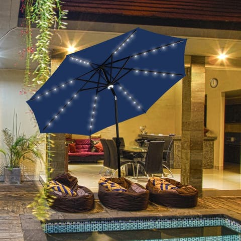 Ainfox 10Ft Outdoor Patio Solar Umbrella for Garden,Backyard,Pool