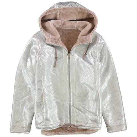 Guess Womens Faux-Fur Lined Jacket