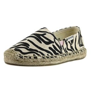 Soludos Original Espadrille Youth Round Toe Canvas Ivory Espadrille