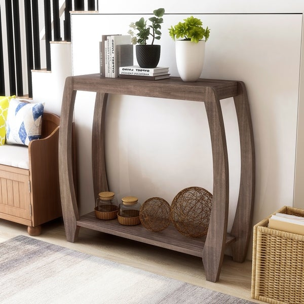 Furniture of America Clift Transitional 2-shelf Console Table. Opens flyout.