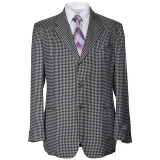 Armani Collezioni Grey Textured 3-Button Unstructured Sportcoat 44 Regular