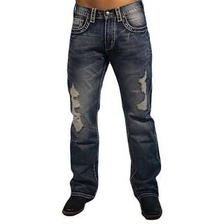 B. Tuff Denim Jeans Mens Western Untamed Stonewash Dark Wash