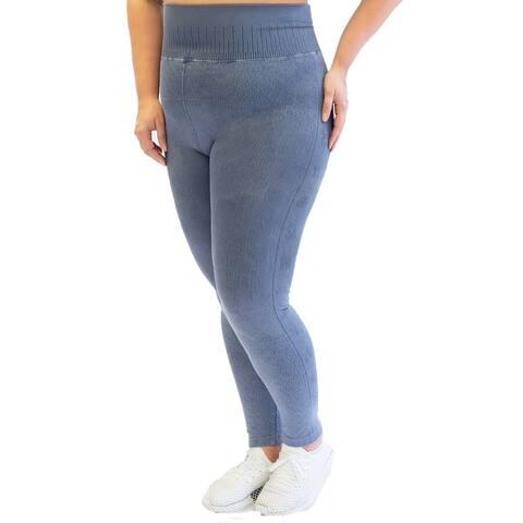 Nanette Lepore Women's Play Plus Seamless Active Leggings Size 3 Extra Large - Purple - XXX-Large