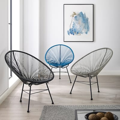Sarcelles Modern Wicker Acapulco Chairs by Corvus (Set of 2)