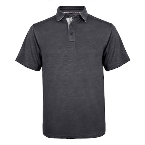 Victory Outfitters Men's Modal Blend Contrast Stitched Pique Short Sleeve Polo