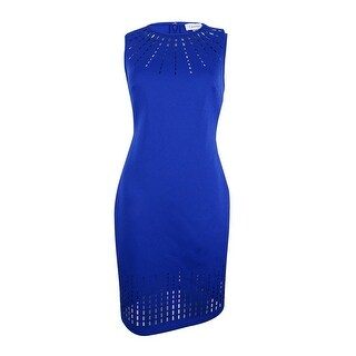 Calvin Klein Women's Laser-Cut Sheath Dress