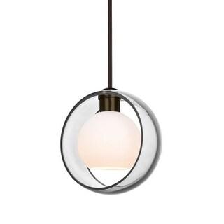 """Besa Lighting 1TT-MANACL-LED Mana Single Light 9"""" Wide LED Mini Pendant"""