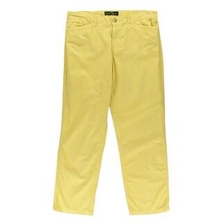 LRL Lauren Jeans Co. Womens Lightweight Flat Front Casual Pants