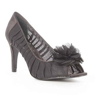 A. Daria Peep Toe Pump Heels - Black