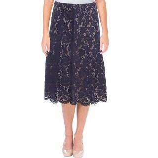 Anne Klein Womens A-Line Skirt Lace Midi