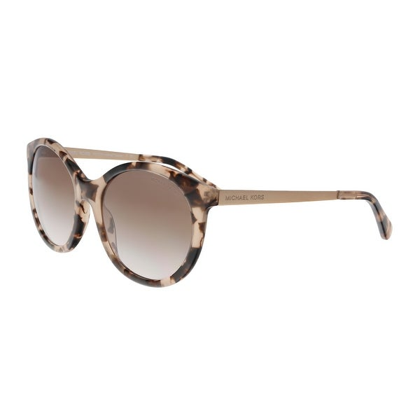 4f518113ef Shop Michael Kors MK2034 320513 Pink Havana Round Sunglasses - No ...
