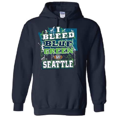 NFL football I bleed Celebrate for the city Unisex Sweatshirt Men and Women Hoodie Kansas City, Seattle, Pittsburgh