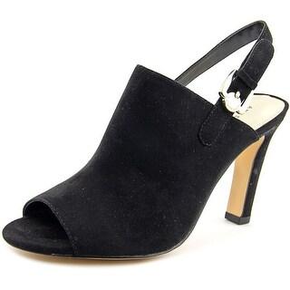 Anne Klein Irenne Peep-Toe Synthetic Slingback Heel