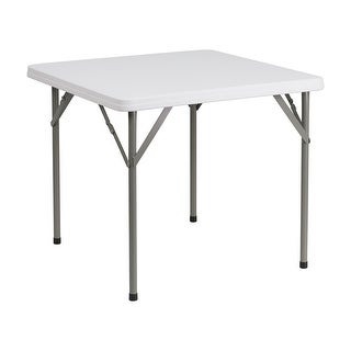 Offex 34'' Square Granite White Plastic Folding Table [OF-DAD-YCZ-86-GG]