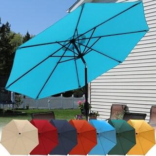 Sunnydaze Aluminum 9-Foot Patio Umbrella with Tilt & Crank Functions