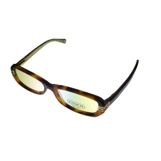 Coach Womens Opthalmic Eyeglass Frame Modified Plastic Rectangle LIlly Tortoise - Medium