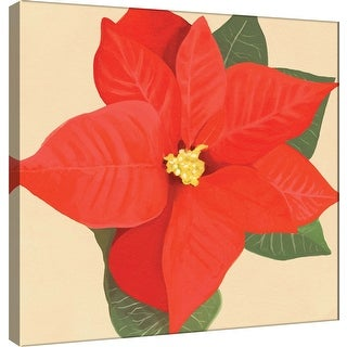 "PTM Images 9-100073  PTM Canvas Collection 12"" x 12"" - ""Flower Art 12"" Giclee Poinsettias Art Print on Canvas"