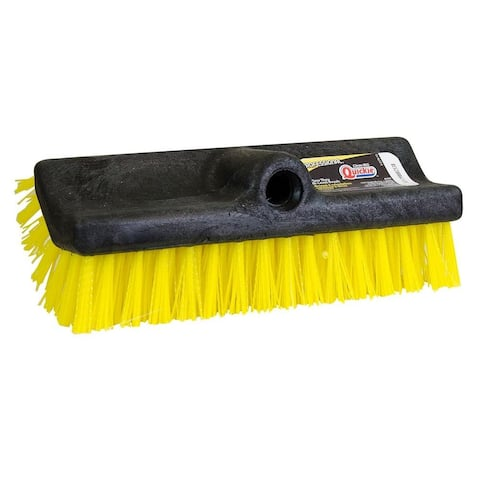 Quickie 253 Professional Bi-Level Scrub Brush, Fits Tapered Handles