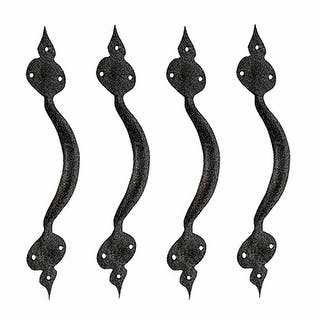 Door Pulls Black Wrought Iron Badge Design 11 Set of 4|https://ak1.ostkcdn.com/images/products/is/images/direct/0d067e4b2aca4fa25d2c7a549d6c506fa3e3f691/Door-Pulls-Black-Wrought-Iron-Badge-Design-11-Set-of-4.jpg?impolicy=medium