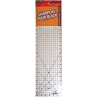 "The Cutting EDGE Clear Ruler-6-1/2""X24-1/2"""